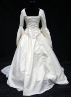Victorian wedding gown by ravennacat