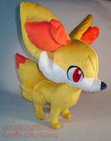 Pokemon: Fennekin Plush by sugarstitch