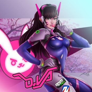 D.VA from Overwatch by FF-STUDIO