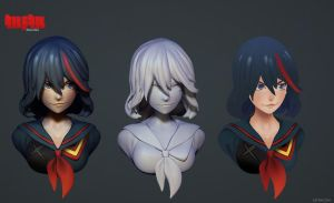 Kill la Kill - sculpt 2 by Zaphk