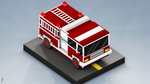 Fire Fighting Vehicle Voxel art by ArteF4ct