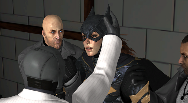 Batgirl captured by Black Masks Thugs (68) by integfred