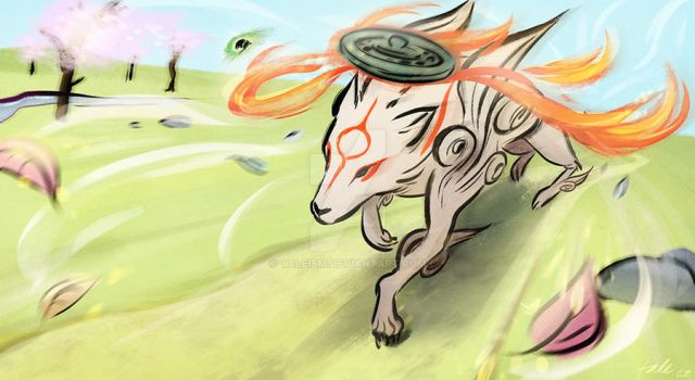 Okami - Shinshu Plains by taleism