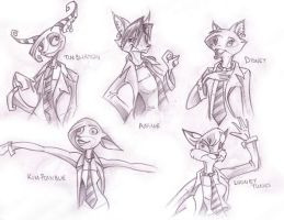 Roxy in different styles by f0xyme