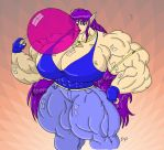 May-Chan Muscle Inflation by MightyKnightBR