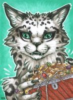 ACEO for Fivercat by Dragarta