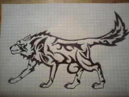 Winter Wolf Tribal by Nocturno19021992
