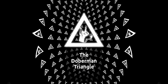 All you see is the triangle-The Doberman Triangle by aukusuto