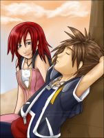 Kairi and Sora by NeuroticCrow