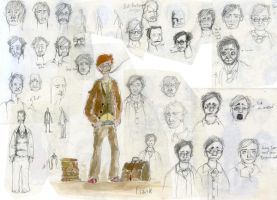 Frank Sketches Montage 01 by benjaminography