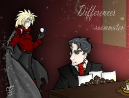 Differences -roommates fanart by Cataclysmic-Phantom