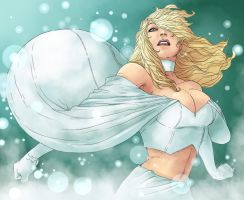 Emma Frost by dancedancehappyfeet