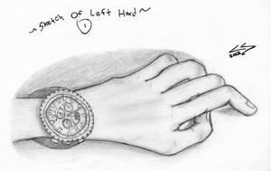 A Sketch Of My Left Hand + My Watch by Mysterious-Master-X