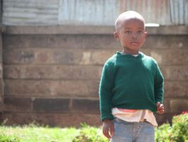 Kibera Boy in Green by eaukes