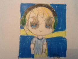 Crappy drawing of Pewds. o3o by cyancrap