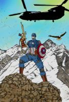 Captain America Colour by DerekDwyer