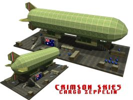 Crimson Skies - Cargo Zeppelin by foxmalcolm