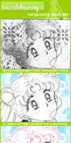 Manga Coloring: Step by step by tuxedobunny