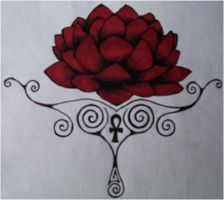 lotus tattoo- finished by fire-demon