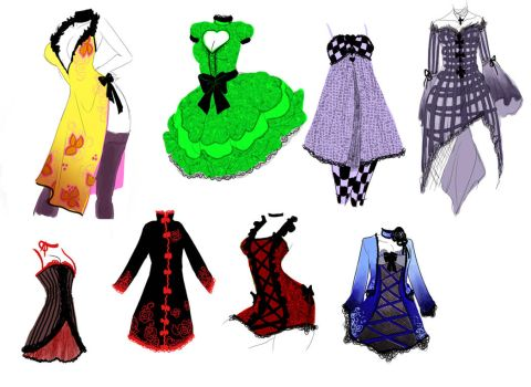 More Dress designs by zambicandy