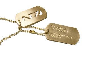 Customizable Mass Effect N7 dogtags by anthropochick