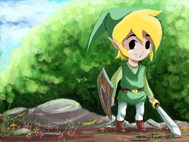 The Legend of Zelda : Link by darkchapolin