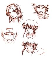 naruto sketches by irving-zero