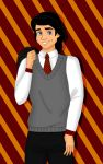 Hogwarts Yearbook Collab: Eric by valloria