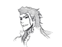 Aizen digital sketch by Vimes-DA