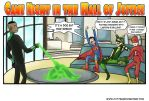 Game Night in the Hall of Justice by CuttingRoom