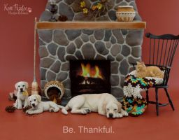 Be thankful miniature animal sculptures by Pajutee