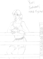 Yuri Sakazaki, MMA Fighter by BlueWolfRanger95