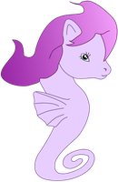 My first vector of an Sea Pony! by Flutterflyraptor