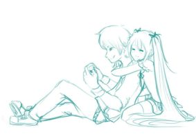 Playing project diva by Shourei