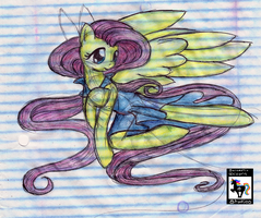 Fluttershy Sarcastically Drawn by SarcasticUnicorn