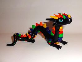 Rainbow Chinese Dragon by ByToothAndClaw