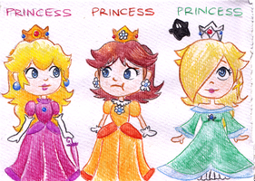 Triple Princess by UUUinfinity