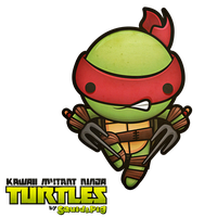 Raphael - Kawaii Mutant Ninja Turtles by SquidPig