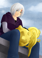 DGM - Allen with Tim by Lap-chan