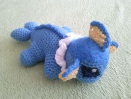 Baby Vaporeon crochet with pattern by EmmO3
