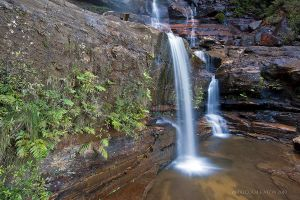 Twin Falls at Wentworth Falls by FireflyPhotosAust