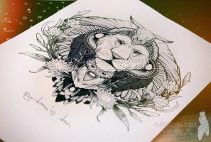Lion /commission print/ by quidames