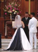 Bride and Groom Taking Vows by FantasyStock