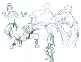Shaolin Monk Studies by curry23