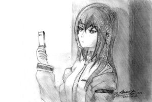 Makise Kurisu -Steins Gate- Sketch by Anomonny