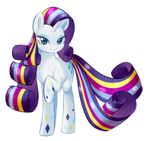 Rainbow Power Rarity by UncertainStardust