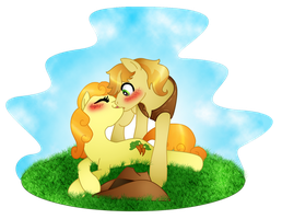 A Kiss for Braeburn by DayDreamerPony