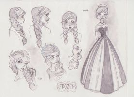 Frozen Doodles by mox-ie