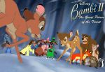 Bambi and Friends vs. Ronno and Weasels by NathanHumphrey