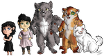 Commission - A cute Werewolf pack by FuriarossaAndMimma